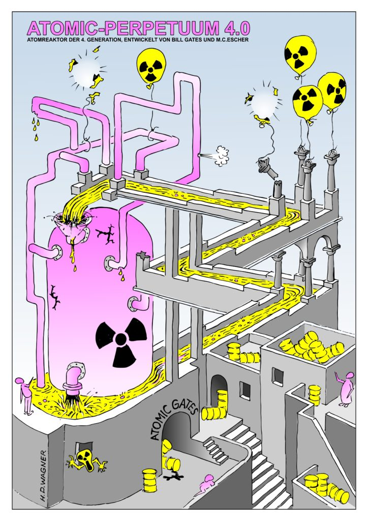 Atomic-Perpetuum 4.0 von Bill Gates und M.C.Escher