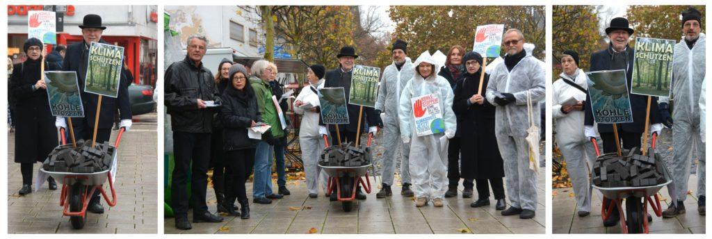 Straßenaktion - Kohle stoppen - Klima schützen