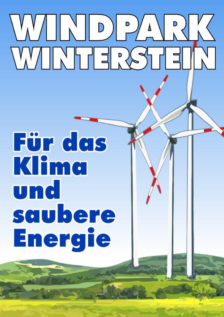 Plakat Windpark Winterstein