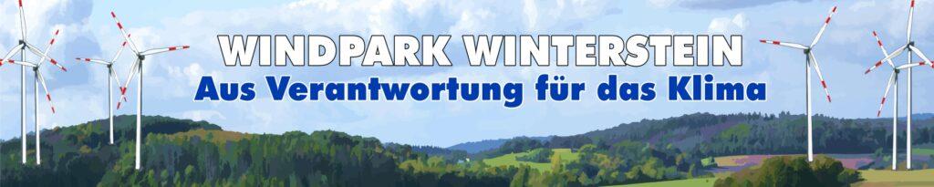 Banner Windpark Winterstein - Aus Verantwortung für das Klima