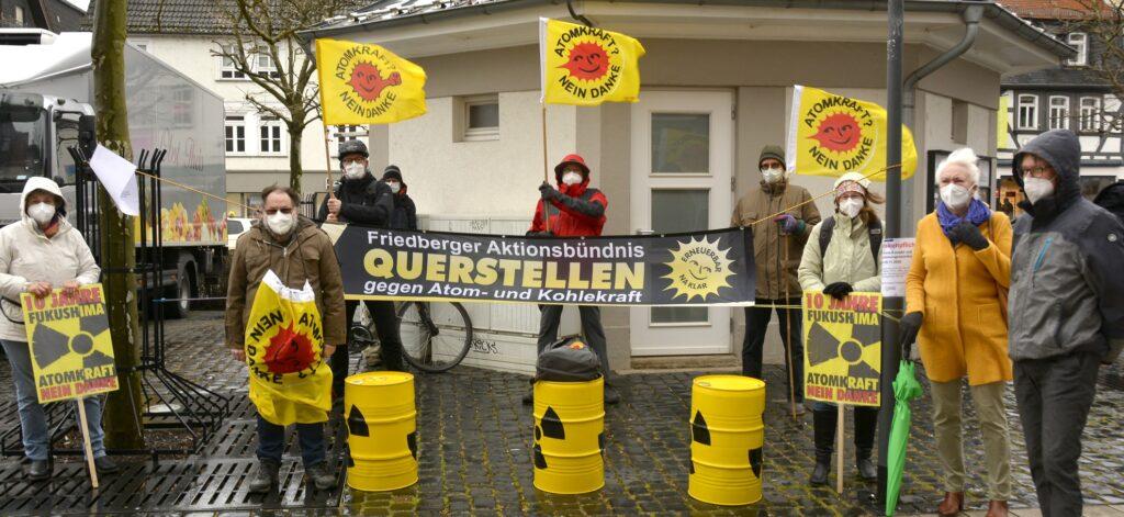 10 Jahre Fukushima, Mahnwache in Friedberg