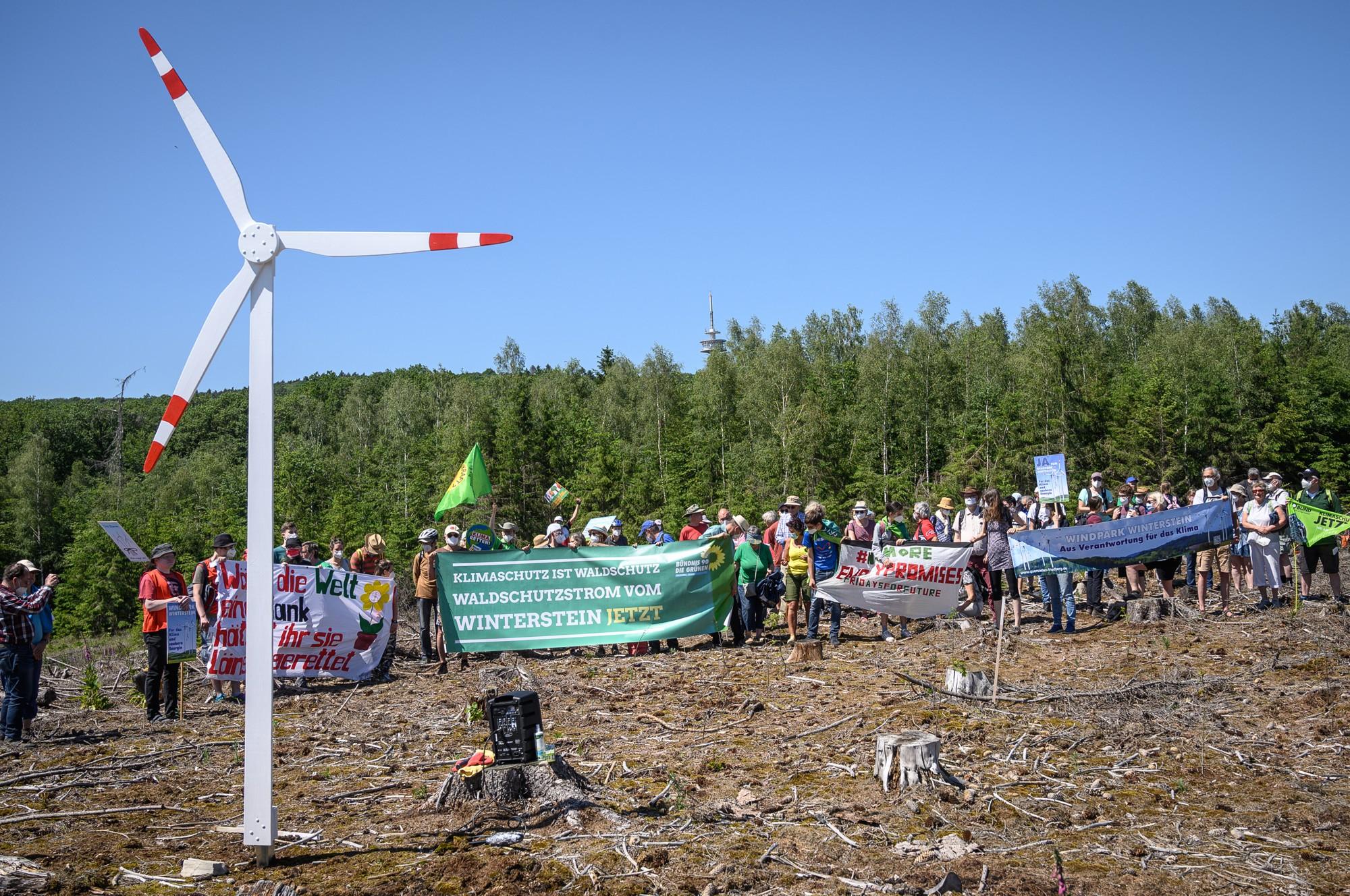 Das erste Windrad steht auf dem Mainzer Kopf, jedoch die Teilnehmenden wollen mehr.
