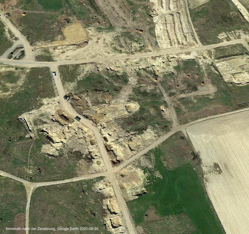 Immerath nach seiner Zerstörung, Google Earth 2021-08-20